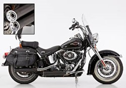 "Picture of Slip On ""Double Groove"" 2-2 Softail / schwarz / mit EG/ABE E3+E4"