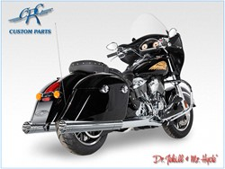 Bild von Jekill & Hyde Slip On Chrom f. Indian Chieftain+Touring Roadmaster / ABE E3+E4