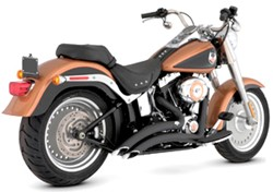 Picture of Auspuffanlage VANCE & HINES Big Radius 2 in 2 / schwarz / Softail +Cross Bone