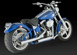 Picture of Auspuffanlage Slip On VANCE & HINES Straightshots HS / FLST+ROCKER ab Bj. 2007