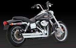 Picture of Auspuffanlage VANCE & HINES Double Barrel / chrom / Dyna Bj.06-11
