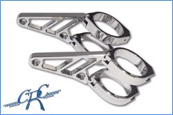 Picture of CNC Alu-Lampenhalter Set / 50+52+54 mm / chrom