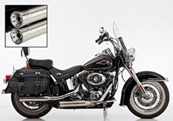 "Picture of Slip On ""Double Groove"" 2-2 Softail / poliert / mit EG/ABE E3 BIS 2016"
