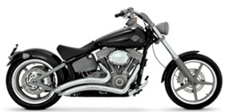 Picture of Auspuffanlage VANCE & HINES Big Radius 2 in 1 / chrom / Softail Rocker ab Bj. 2008