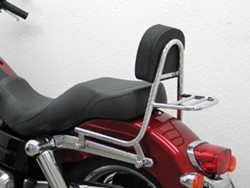Picture of Sissy Bar m. Ki.u.Gepäcktr. / Rohr / H.D. Dyna Switchback / chrom