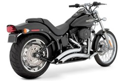 Bild von Auspuffanlage VANCE & HINES Big Radius 2 in 2 / chrom / Softail +Cross Bone