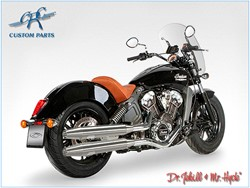 Bild von Jekill & Hyde Slip On Chrom f. Indian Scout ABE E3+E4