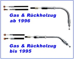 Picture of Gaszug H.D. V- Rod stahlflex std. 79 cm