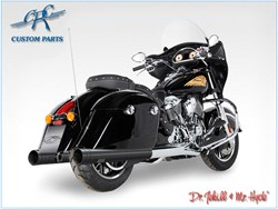 Bild von Jekill & Hyde Slip On Schwarz f. Indian Chieftain+Touring Roadmaster / ABE E3+E4