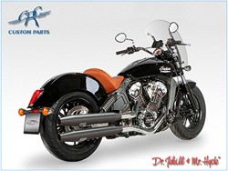 Picture of Jekill & Hyde Slip On Schwarz f. Indian Scout ABE E3+E4