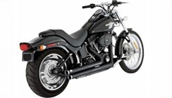 Picture of VANCE & HINES / EG-ABE Shortshots Staggered / schwarz / Softail
