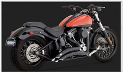 Picture of Auspuffanlage VANCE & HINES EG/ABE Big Radius 2 in 2 / SCHWARZ / SoftailBj. 84-16