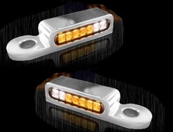 Bild von LED Armaturen Blinker + Positionslicht vorne SOFTAIL BREAKOUT MODELLE , CHROM