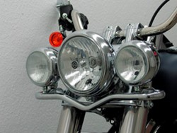 Picture of Lampenhalter Deluxe f. H.D.-Softail ab 07 (Twin Cam 96B) / +Slim